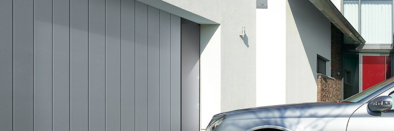 La porte de garage à déplacement latéral