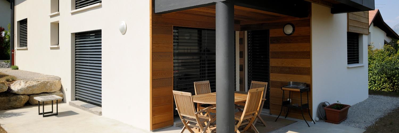 BSO Ambiance vue extérieure Maison contemporaine