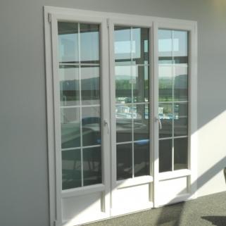 Présentation d'une porte-fenêtre en pvc